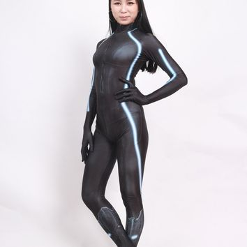 Black Widow Battle Suit The Avengers Black Widow Cosplay Costume Spandex Print Lady Zentai Tight Suit Custom Made Halloween suit