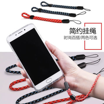 Simple Fashion MobilePhone Lanyard Men And Women General Short Wrist Rope Digital Camera Self Timer Lever Short Lanyard