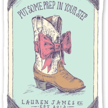 Lauren James Prep In Your Step Sticker