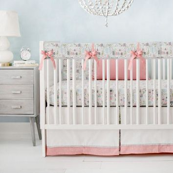 Coral In the City Baby Bedding Set