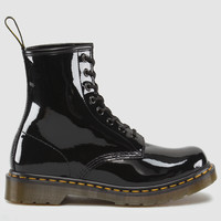 Dr Martens 1460 W Boot BLACK PATENT LAMPER - Doc Martens Boots and Shoes