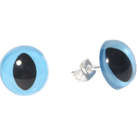 Kitty Eye Stud Earrings- Blue