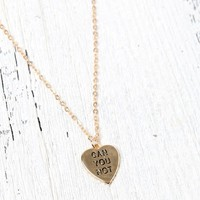 LA Hearts Can You Not Heart Necklace - Womens Jewelry - Gold - One