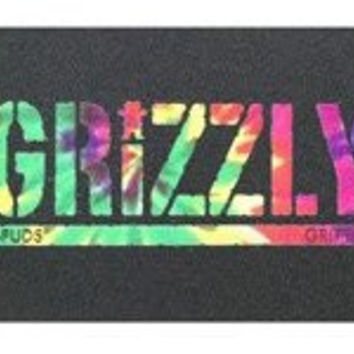 GRIZZLY GRIP T-PUDS TIE DYE Skateboard PERFORATED GRIPTAPE Torey Pudwill