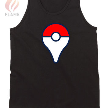 Pokemon Go Pin Logo Mens Tank Top