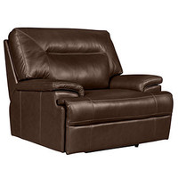 "Dario Leather Power Recliner Chair, 49""W x 39""D x 39""H"