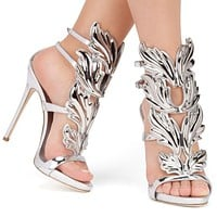 Buckle Strap High heels wedding sandals