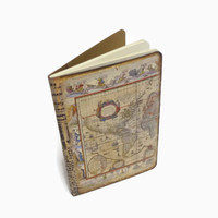 Mini Travel Notebook, Antique Map Journal, Geography Jotter, Vintage Style Pocketbook, Travel Log, Destination Wedding Vows Journal