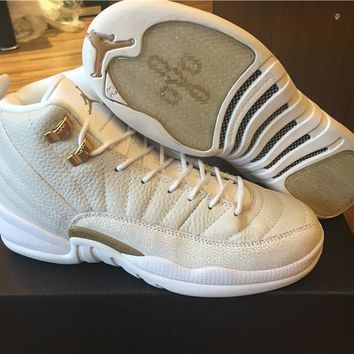2017 Air Jordan 12 Retro Xii Ovo White Basketball Shoes Sports Sneakers | Best Deal Online