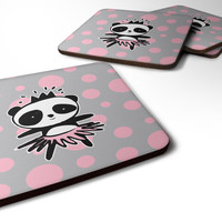 Panda Bear Ballerina Foam Coaster Set of 4 BB7035FC