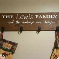 Stocking hanger, No mantle, Personalized, Rustic Christmas Decor, Christmas stockings