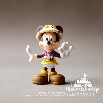 Disney Mickey Mouse Minnie 10cm Action Figure Posture Anime Decoration Collection Figurine Toy model for children gift