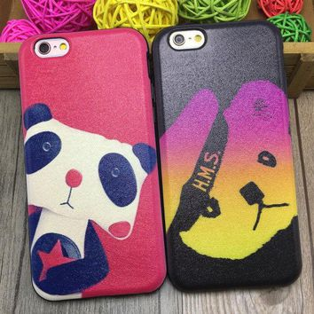 ONETOW Hot Sale Iphone 6/6s On Sale Hot Deal Stylish Cute Panda Apple Iphone Soft Phone Case [8864219207]