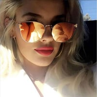 Metal Frame Cat Eye Women Sunglasses Female Sun Glasses Shades Famous Brand