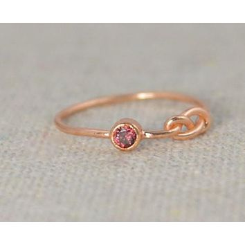 Rose Gold Filled Alexandrite Infinity Ring