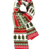 ASOS Scarf With Christmas Trees