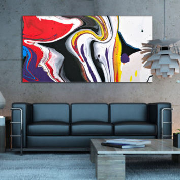 Abstract Canvas Art - Contemporary Art Framed Print for Home or Office Decoration, Acrylic Giclee Print