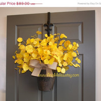 WREATHS ON SALE fall wreath fall wreaths autumn wreath Thanksgiving wreaths front door decor birch yellow fall outdoor wreaths love ideas