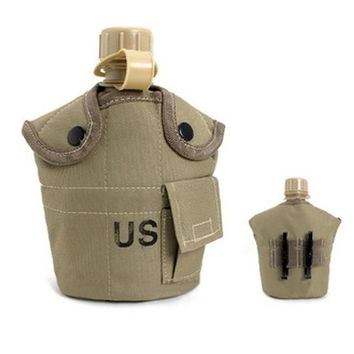3PCS/Set Portable Canteen Tactical Water Bottle Thermal Insulation Survival Kettle