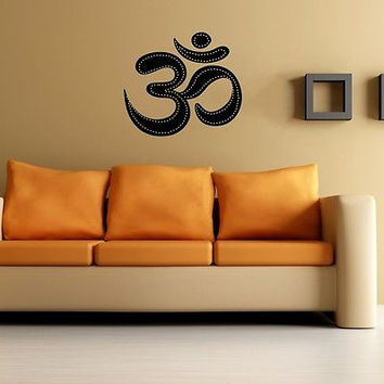 WALL VINYL STICKER DECALS ART MURAL OM SYMBOL BUDDHA SACRED INDIAN DESIGN SV2353