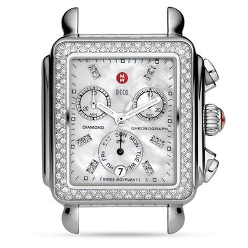 Michele Deco Diamond Dial Watch Head