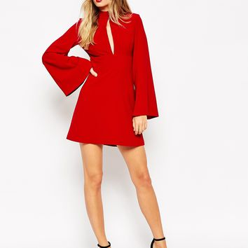 ASOS Turtle Neck A Line Shift Dress
