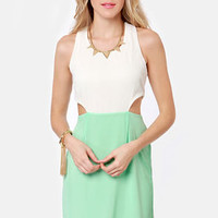 Syrup-dipity Mint Green and Ivory Dress