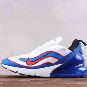 HCXX Nike Air Max 270 THE World Cup Knitted Running Shoes White Blue