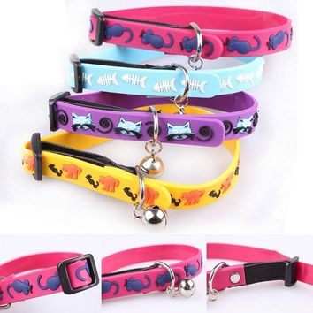 Silica gel Cat dog Collars Puppy Ring Bell Collars Durable Pet Kitten Safety Control Collar Puppy Leash Products
