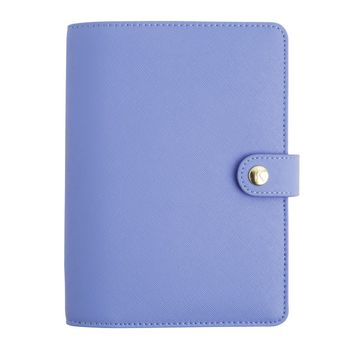 TEXTURED LEATHER PERSONAL PLANNER MEDIUM: COBALT