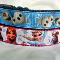 Frozen Dog Collar - Olaf or Anna & Elsa