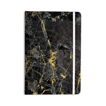 "KESS Original ""Gold Fleck Black Marble"" Digital Abstract Everything Notebook"