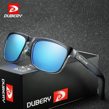 DUBERY Polarized Aviator Sunglasses Men's Vintage Male Colorful Sun Glasses For Men Fashion Brand Luxury Mirror Shades Oculos