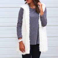 Snow Bunny Fur Vest {Cream}