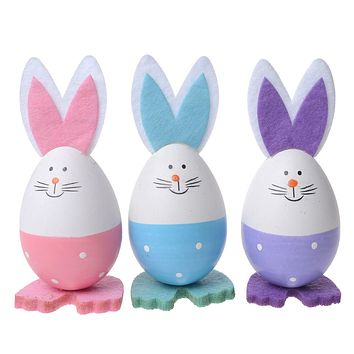Easter Decoration Foam Rabbit Easter Egg Rabbit DIY Painting Toy