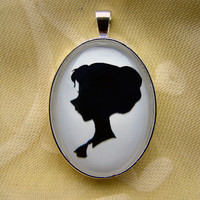 Jane Porter Silhouette Disney Cameo Pendant Necklace