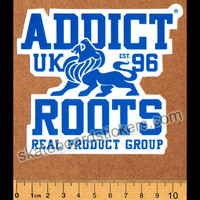 Addict Clothing Skateboard Sticker - Roots