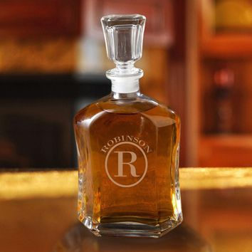 Personalized Whiskey Glass Decanter ~ Monogram Designs