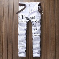 Casual Hot Sale Alphabet Print Club Pants [10766086083]