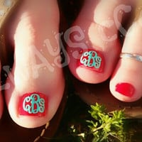 NEW Empress Monogram Toenail decals 4 total