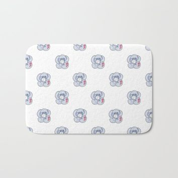 Denim Rose Bath Mat by drawingsbylam