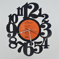Vinyl Record Album Wall Clock (artist is David Bowie)