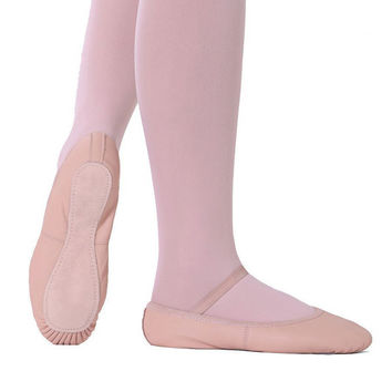 So Danca SD55C Child Full Sole Leather Ballet Shoe -No Drawstrings
