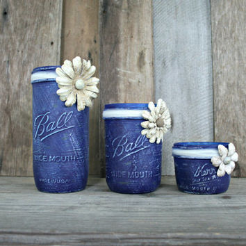 Home and Wedding Decor -  Craft Paint, Distressed Mason Jar, Vase or Organization