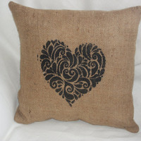 Hand Printed Decorative Heart Rustic by RusticCountryCrafts