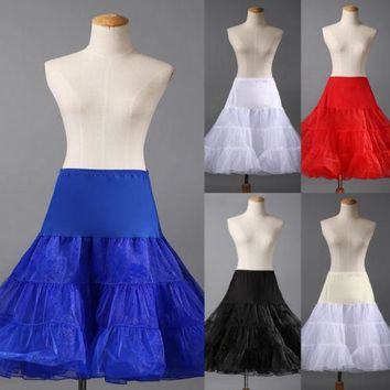 2016 Lady Wedding Bridal Petticoat Retro Slips Underskirt Rockabilly Tutu Swing Skirt