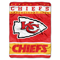 Kansas City Chiefs NFL Royal Plush Raschel (12th Man Series) (60in x 80in)