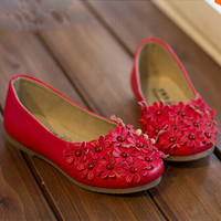 children girls shoes girls leather shoes flower kids single shoes girls princess shoes