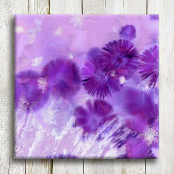 Canvas art Purple flowers Framed art 12/12 by OneDesign4U on Etsy