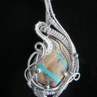 Copper Wire Wrap Pendant with Jade